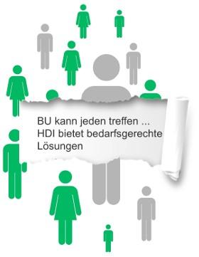 Berufsunfähigkeit kann jeden treffen | © HDI Lebensversicherung AG