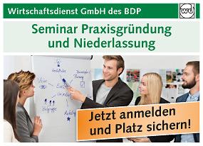 Seminare Praxisgründung und Niederlassung | BDP Wirtschaftsdienst
