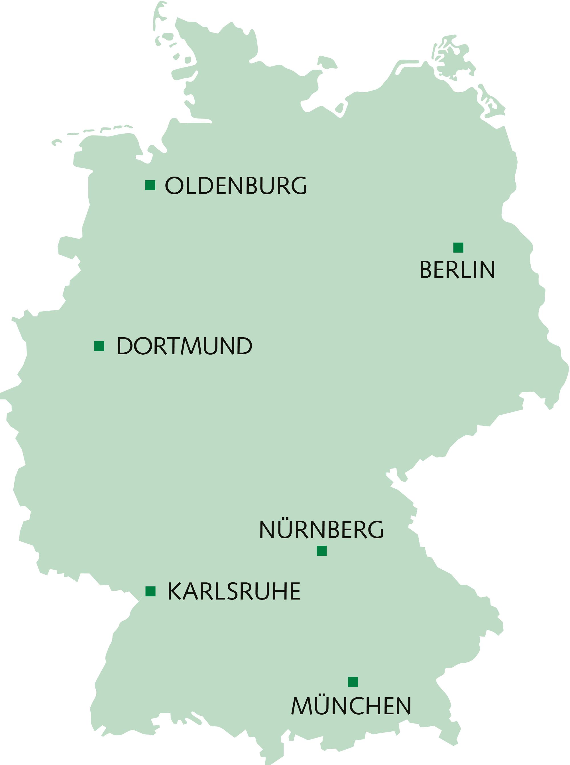 Deutschlandkarte der BDP Experten