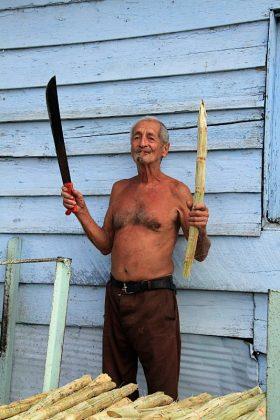 Zuckerrohr Bauer auf Kuba