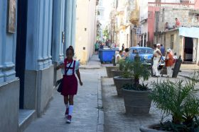Straßenszene in Trinidad Kuba
