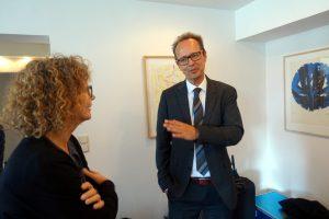 RA Jan Frederichs im Gespräch beim Praxisgründungsseminar 2017 in Köln