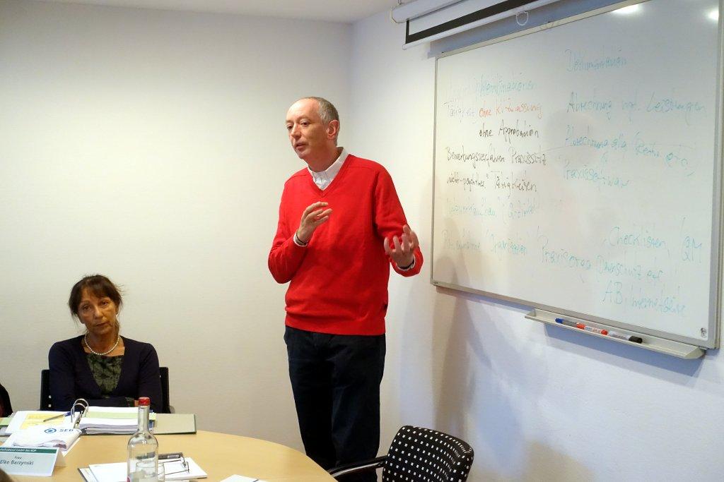Marcus Rautenberg über Praxisfragen beim Praxisgründungsseminar 2017 in Köln